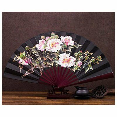 peony-bamboo Fan folding fan male antique fan Chinese style classical foldi B5L1