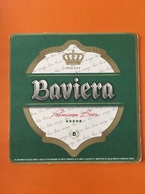 Paraguay Beer Coaster BAVIERA OLD MODEL Very rare and scarce coaster