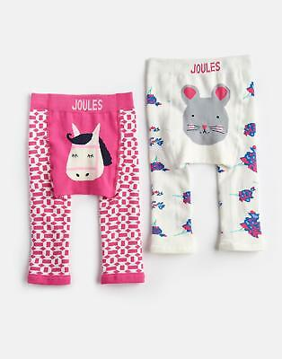 Joules Lively Two Pack Leggings with Soft Waistband in Horse Motif