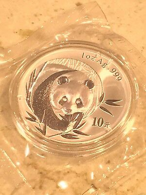 China 2003 10 Yuan Silver Panda .999 AG Double Sealed BU