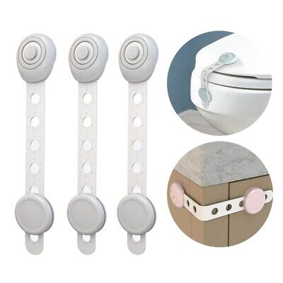 3PCs Safety Locks Childproof Infant Door Drawer Proofing Protable Easy Install