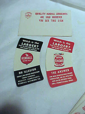 NOS Kendall refining Co,Bradford, PA oil advertising handout magical illusion