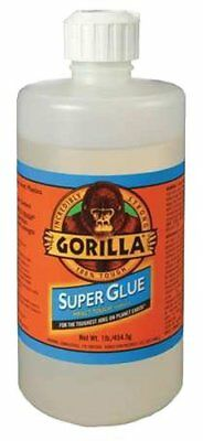 Gorilla Glue 78007 Instant Bond Superglue  1 lb Bottle  Clear
