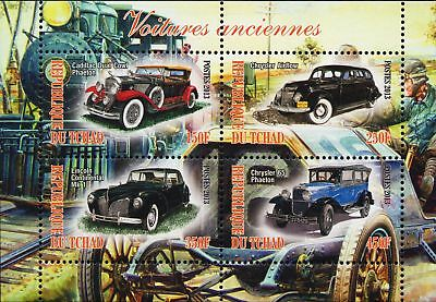 Classics autos sheet souvenir MNH stamps of Tchad