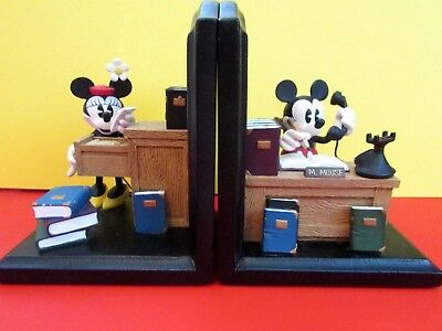 Vintage Mickey and Minnie Mouse Book-Ends