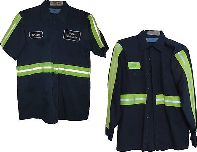 Cintas Navy High Visibility Reflective Shirts Short + Long Sleeve Pick Your Size