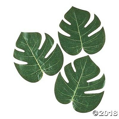 36 LARGE NATURAL TROPICAL PALM LEAVES Luau Wedding Decorations