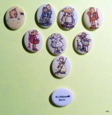M.i. Hummel Collector Cabochon Set 8 Pc Set New Old Stock (Eb6)