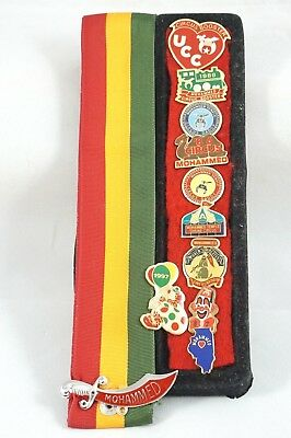 Vtg Pins & Ribbon Shriner Circus Mohammed Masonic Booster Temple Daddy 80-90's