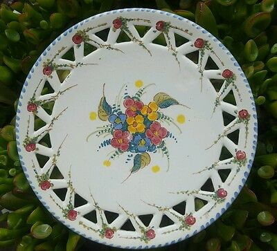 "Gouda Zenith pattern 6 3/4"""" serving plate - mint condition signed # 470"