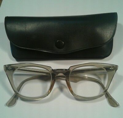 Vintage Bausch & Lomb Safety Glasses Very Nice Condition Clear Plastic Frames