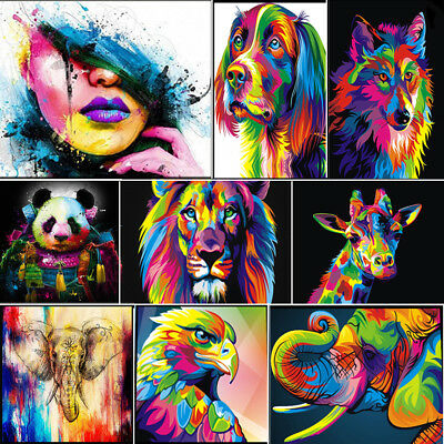 Unframed Colorful Animals Art Canvas Oil Painting Picture Print Home Wall Decor