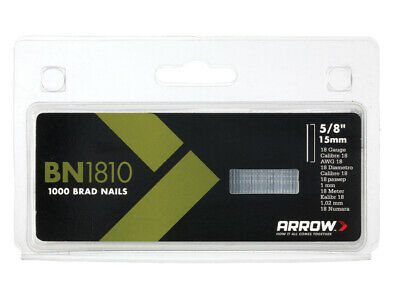 Arrow BN1810 Brad Nails 15mm Pack 1000 ARRBN1810