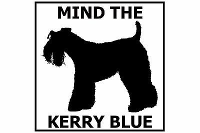 Mind the Kerry Blue Terrier - Gate/Door Ceramic Tile Sign