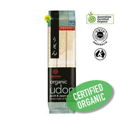 Hakubaku Organic Authentic Japanese Udon Noodle 270g Halal Vegan Kosher No Salt
