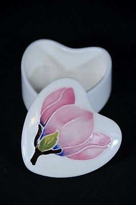 Miniature Moorcroft container with beautiful pink flowers