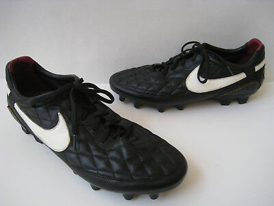2008 Nike Ronaldinho Kangaroo Black Leather Men Cleats Us 12 Eur 46 Vintage e74a42cbc0f