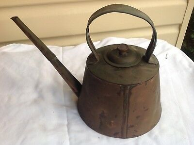 Decorative old  brass kettle in good condition