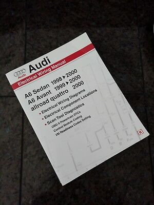 audi a6 electrical wiring manual a6 sedan 1998-2000, a6 avant 1999-2000
