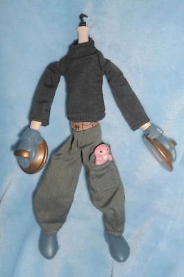 "Disney Kim Possible RON STOPPABLE & RUFUS Mole Rat 8 - 9"" Bendable Doll BODY NEW"