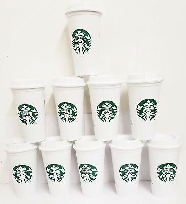 STARBUCKS Reusable Recyclable Grande 16 OZ Plastic Coffee Cup X50