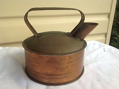Old copper kettle in very good condition