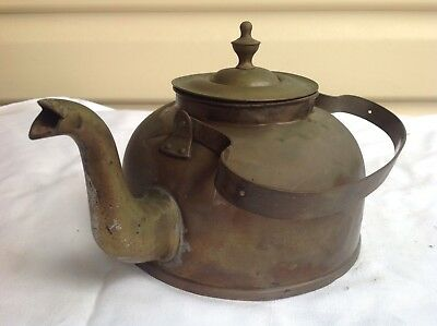 Pretty, old, small brass kettle in good condition