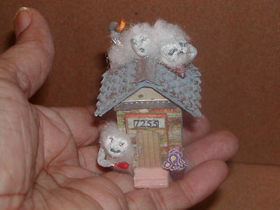 """Dollhouse Miniatures """"Mischievous Ghost Should We or Shouldn't We"""""""