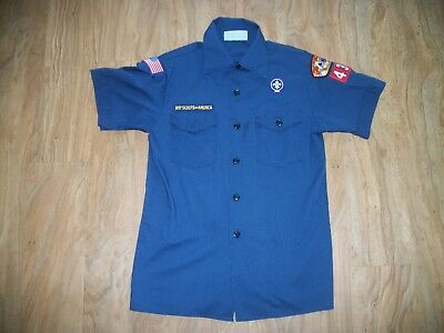 Boy Scouts of America Blue Short Sleeved Shirt Youth Size L (14-16)