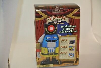 M&M's Nutcracker Sweet Chocolate Candy Dispenser Blue Plastic NEW In Box Holiday
