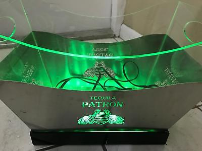 RARE Light Up Tequila Patron Liquor Drink Ice Bucket Party Serving Bowl Cooler