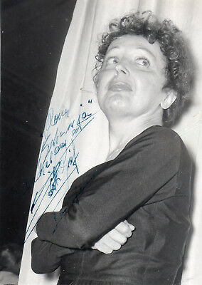 French Icon & Popular Singer Edith Piaf ,autographed Studio Photo. 50's
