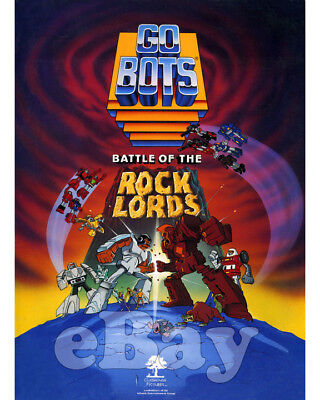 Rare! GOBOTS BATTLE OF THE ROCK LORDS Cartoon Color Photo HANNA BARBERA Studios
