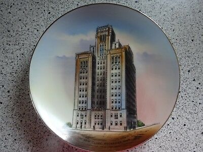 """The New Clinic Rochester Minn Souvenir Advertising Plate Germany 7.5"""" Antique"""