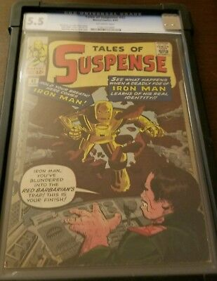 Tales Of Suspense #42 Cgc 5.5 Ow Pages!!