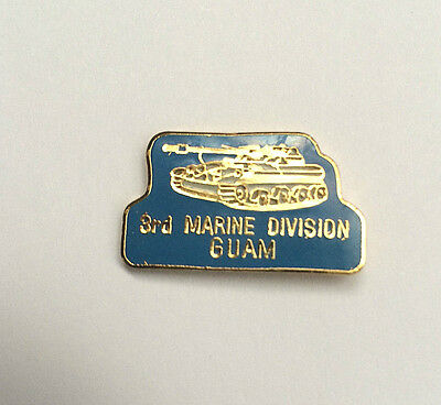 ~New Old Stock!  Us Military Pin 3Rd Third Marine Division Guam Wwii Usmc