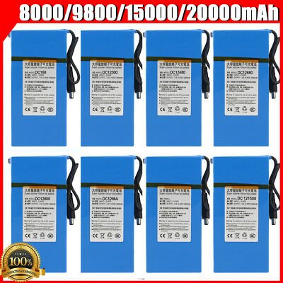 DC 1800-20000mAh Super Rechargeable Li-ion Batteries for CCTV Camera Transmitter