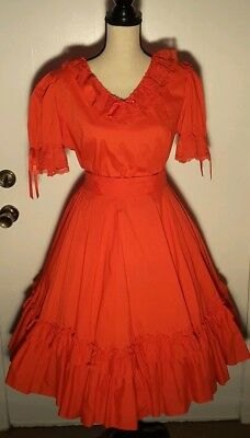 Partners Please! Square Dance Top In Red Size XL And Skirt In Size L In Red