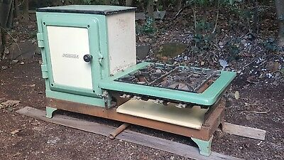 "Antique 'National"" Enamel Gas Stove/Oven"