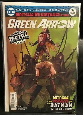 Green Arrow #32 (2017) Gotham Resistance Finale! [NM] Batman Who Laughs! Metal!