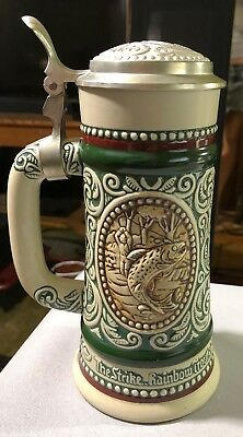 Avon Large Beer Stein Handcrafted In Brazil1978 #99044 Labeled Avon 1978