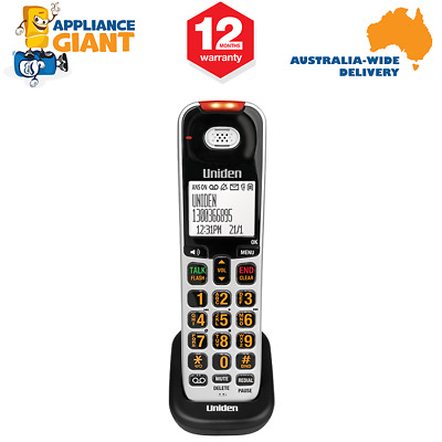 Uniden SSE07 Additional Handset for SSE 35/37/45/47 Series Systems - Silver