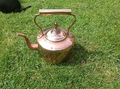 Stunning Copper And Brass Kettle......