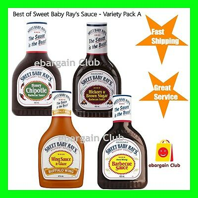 Best of Sweet Baby Ray's Sauce Variety Pack A BBQ Bulfalo Hickory Chipotle  eBC