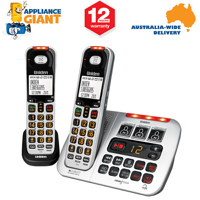 Uniden SSE45+1 Visual and Hearing Impaired Two Handset Cordless Home Phone