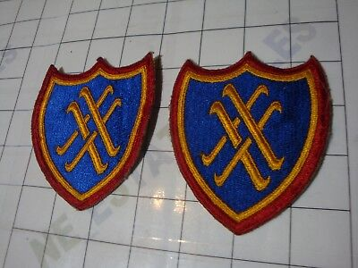 2x wwii WW2 uniform PATCH embroidered US 4th Tank IV Armored Corps XX Corps