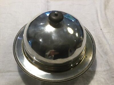 Vintage Silver Plated Three Piece Muffin Or Butter Dish