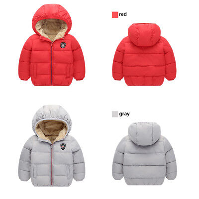 Winter Warm Kids Boys Girls Jacket Coat Hooded Outwear Snowsuit Top Clothes 2-7T