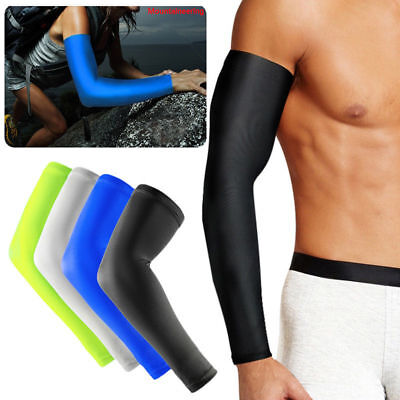 Sports Cover Hand Arm Elbow Protector Gear Basketball Football Long Sleeves