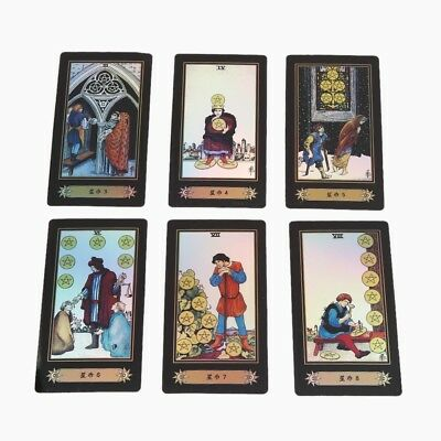 Tarot Cards Deck Vintage 78 Cards Rider Waite Future Telling Game Colorful Box